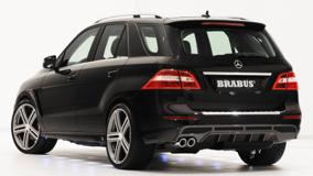 Brabus Mercedes-Benz ML W166 In Black Back Pose